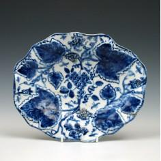 Bow Porcelain Grapevine Pattern Dish c1755