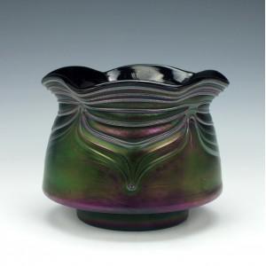 Thomas Webb Bronze Glass Vase c1890