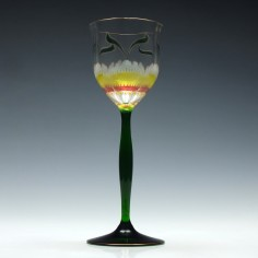 Art Nouveau Theresienthal Enamelled Hock Wine Glass c1900