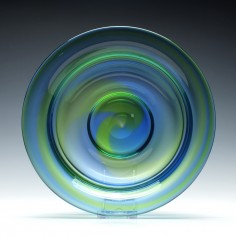 Large Stevens & Williams Rainbow Glass Bowl