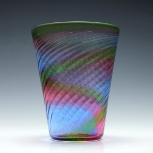 Stevens & Williams Rainbow Glass Vase c1940