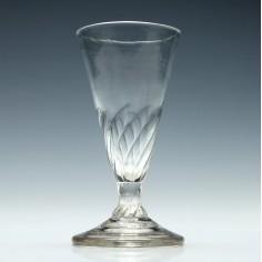 Georgian Wrythen Moulded Ale Glass c1760