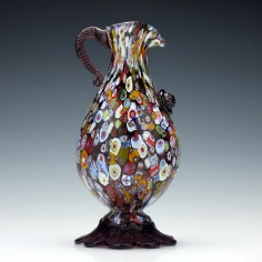 Murano millefiori Glass Pitcher c1950