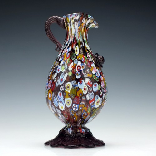 Salviati  Murrine Glass Pitcher c1890