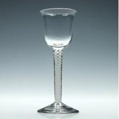 19th Century Opaque Twist Wine Glass c1900