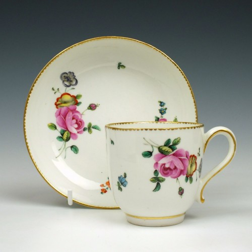 Chelsea Derby Porcelain Coffee Cup and Saucer 1780