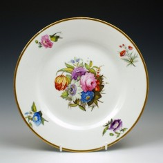 Hand Painted Derby Floral Pattern Plate c1815