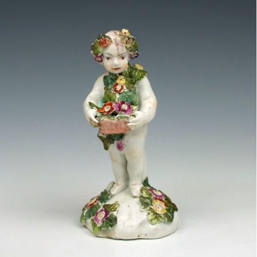 Bow Porcelain 'Putti Figure' c1760
