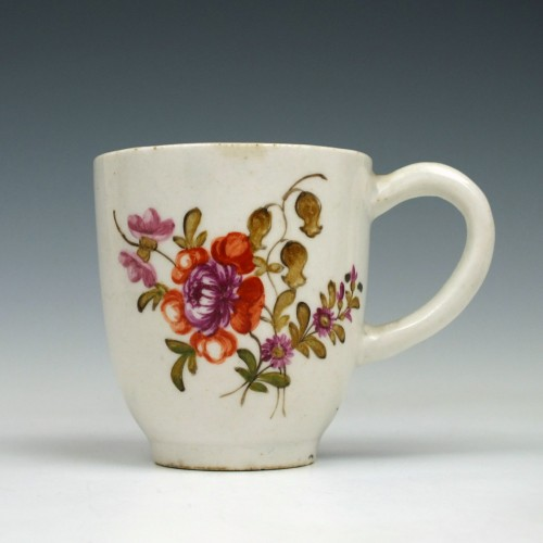 Lowestoft Porcelain Tulip Painter Coffee Cup c1775