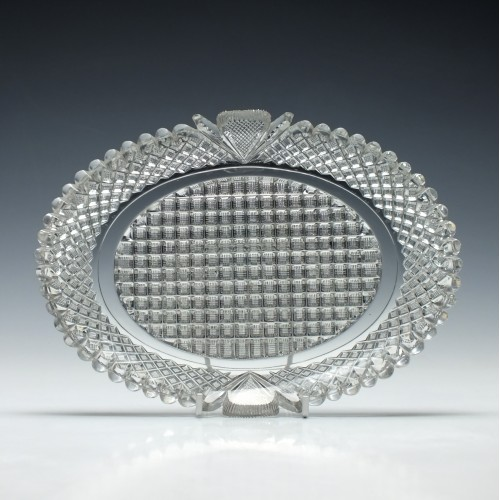 Cut Glass Oval Dish c1830