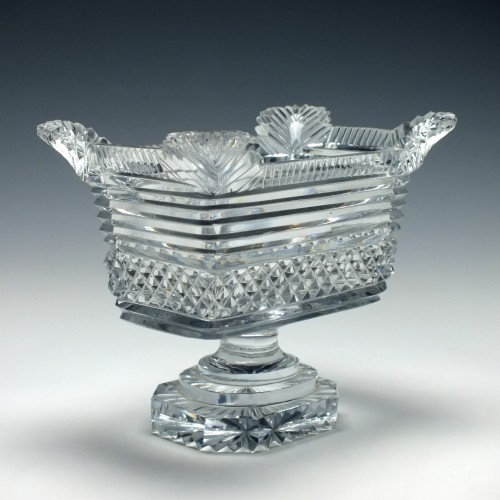 William IV Cut Glass Footed Bowl c1835
