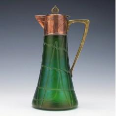 Rare Pallme-König Glass Spider Trailing Claret Jug c1900