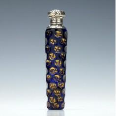 Gilded Victorian Perfume Bottle c1870