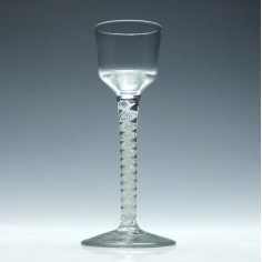 18th Century  Single Series Opaque Twist Wine Glass c1760