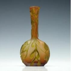 Galle Three Colour Cameo Solifleur Vase c1900