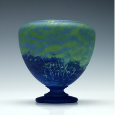 Daum Nancy Pate De Verre Vase c1905