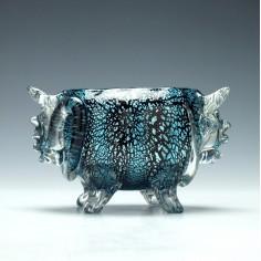 Rare Stevens & Williams Rockingham Glass Bowl