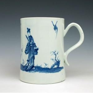 Worcester Porcelain Walk in the Garden Pattern Mug c1758