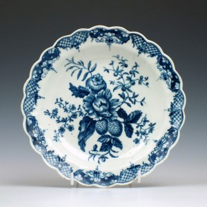 First Period Worcester Pine cone Pattern Porcelain Plate c1775