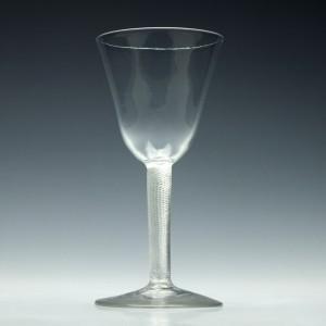 RESERVED B.C. - 18th Century Air Twist Wine Goblet c1750