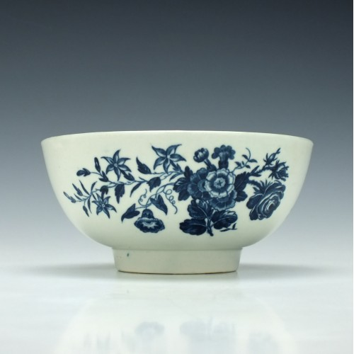 Worcester Three Flowers Pattern Slop Bowl c1775