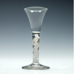 18th Century Opaque Twist Wine Glass