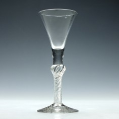 Georgian Composite Stem Wine Glass c1750