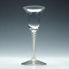 Georgian Mixed Twist Wine Glass c1765