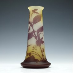 Galle Three Colour Cameo Fuschia Vase c1900