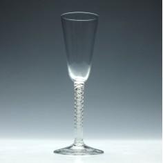 Georgian Opaque Twist Ale Glass c1760
