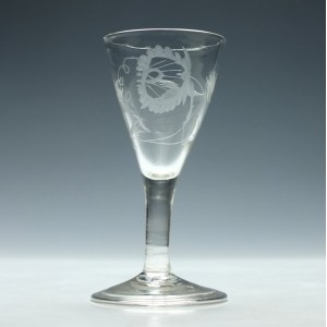 Georgian Gin Glass with a Folded Foot c1750