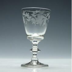 Engraved Port Wine Glass c1810