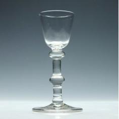18th Century Balustroid Wine Glass c1740
