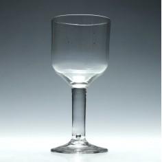 Tall Georgian Plain Stem Wine Goblet c1775