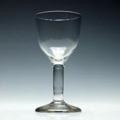 Large Georgian Plain Stem Wine Goblet c1775