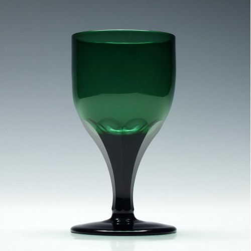 Green Slice Cut Wine Glass c1830