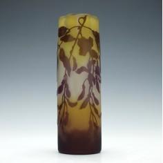 Galle Three Colour Cameo Wisteria Vase c1910