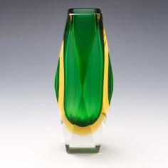 A Madruzzato Murano Sommerso Glass Vase c1965
