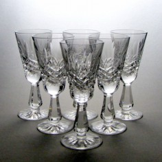 Six Waterford Kenmare Crystal Sherry Glasses