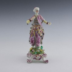 A Bow figure of a Turkish Dancer c1765