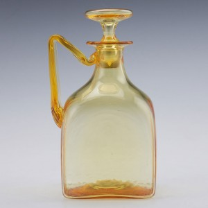 James Powell & Sons Square Roman Decanter Designed by Harry Powell c1908