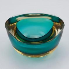 Murano Sommerso Trefoil Bowl c1955