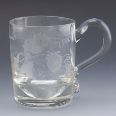 'A Present from Newcastle' Engraved Half Pint Tankard c1840
