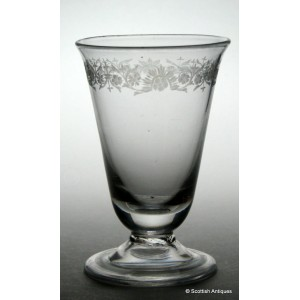 18th Century Engraved Jelly Glass c1740