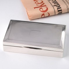 Art Deco Silver Cigarette Box Birmingham 1924