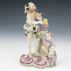 A Bow Porcelain Figure of Vulcan Classical Four Seasons c.1765