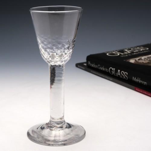 George III Hammered Bowl Wine Glass c1760