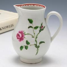 Worcester Porcelain Hand painted Sparrow Beak  Jug c1775