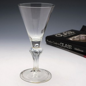 Georgian Pedestal Stem Wine Glass c1740
