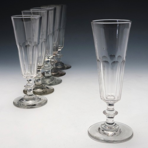 Composed Set of Six 19th Century Champagne Flutes